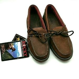 Rocky Gore Tex Brown Leather Loafers size 9 NWT